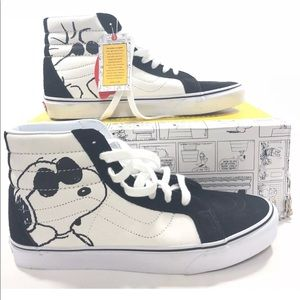 Vans Unisex SK8-HI Reissue -Peanuts Joe Cool Black